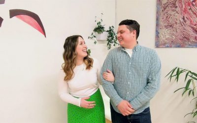 Flowing in Partnership: Alex and Hannah have developed a love for dancing with each other and cannot wait to show off at their wedding